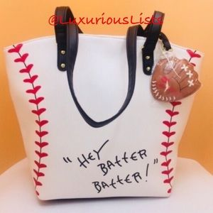 24HR SALE⚾️ Betsey Johnson Baseball Tote ⚾️